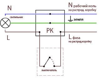 Схема 2 выключателя 1